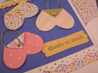 Purse Punch Art Thank You Card Recipe