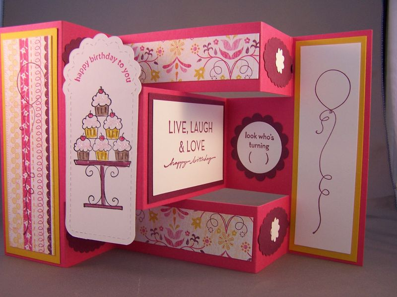 Crazy for Cupcakes Tri-Shutter Card