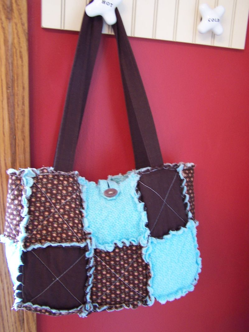 Quilted Rag Purses with the Big Shot 001