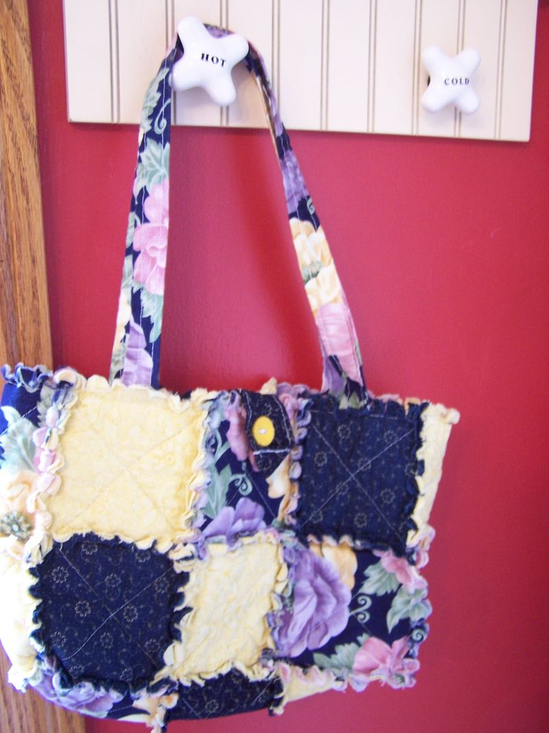 Quilted Rag Purses with the Big Shot 002