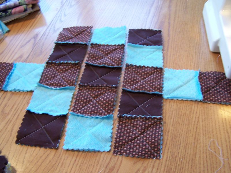 Quilted Rag Purses with the Big Shot 006