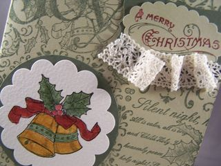Christmas Collage Background Stamp