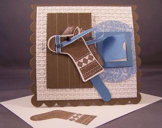 Stitched Stocking Punch Art