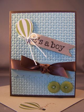 Up, Up & Away baby card