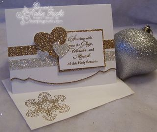 Silver & gold Christmas Card