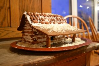 Cabin Gingerbread House