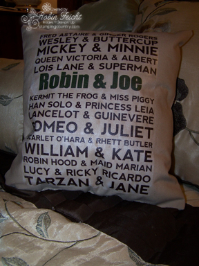 Home Craft-Famous Couples Pillow