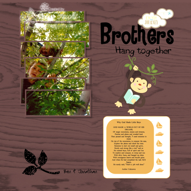 Brother Scrapbook Page