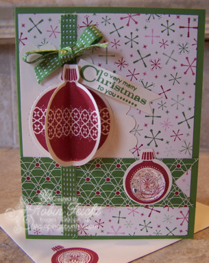 Ornament Keepsakes Christmas Card