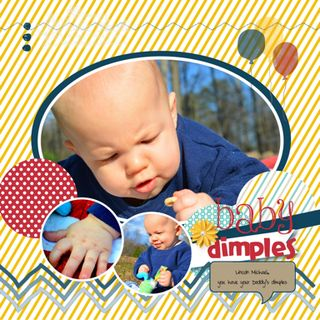 Baby Dimples Scrapbook Page