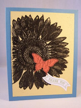 Sunflower Background Stamp