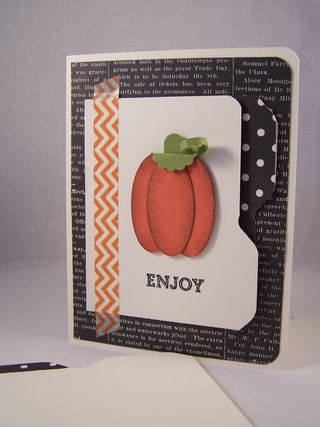 Pumpkin Punch Art & File Folder Card