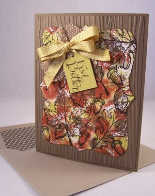 Gently Falling Stampin' Up! Card Idea