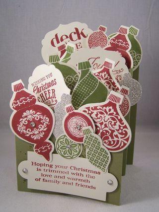 Cascading Card Ornament Keepsakes