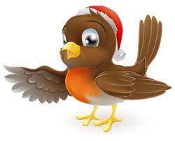Bigstock-Christmas-Robin-Bird-Pointing-35979610