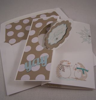 Best of Snow Stampin Up Flip Card