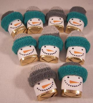 Chocolate Nugget Snowman