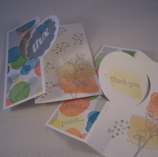 Happy Watercolor Flip Card by Robin Feicht
