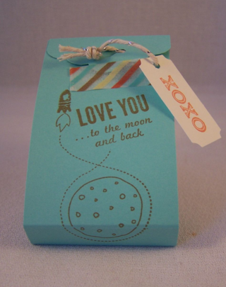 Love You to the Moon Valentine Treat Holder