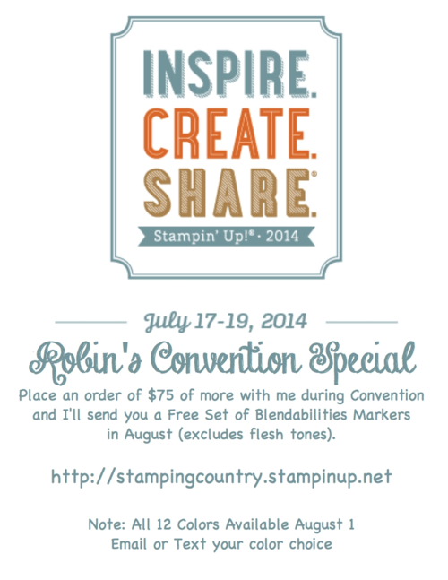 Free Stampin Up Blendabilities Markers