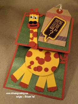Giraffe Punch Art Card