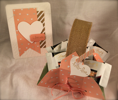Hello Love Gift Basket & i love us card
