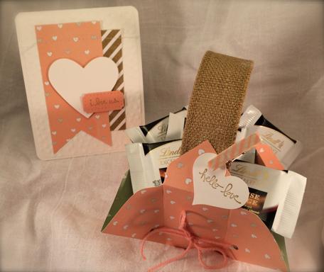 Hello Love Gift Basket & i love us card