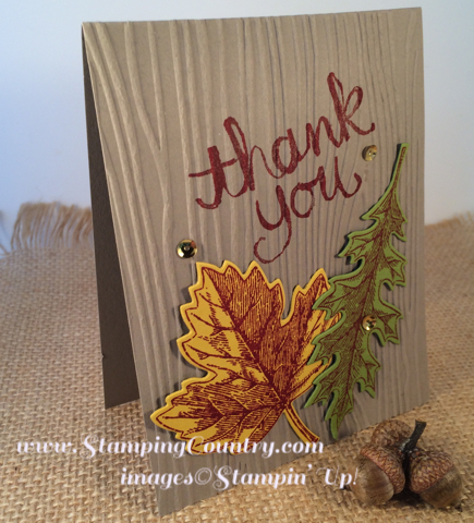 Vintage Leave Stampin' Up! Card