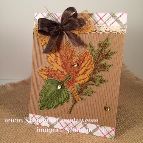 Vintage Leaves Stampin' Up! Card