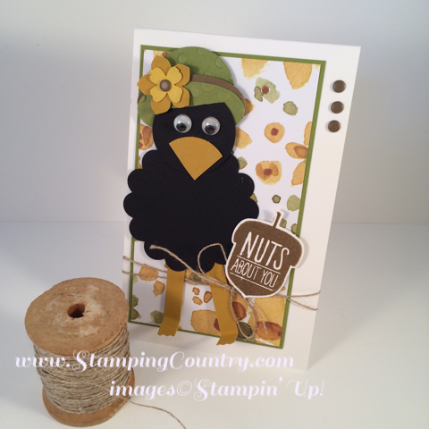 Crow Punch Art Card Stampin' Up!