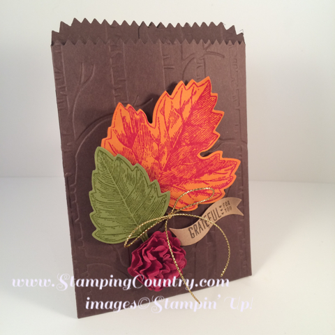 Vintage Leaves Mini Treat Bag