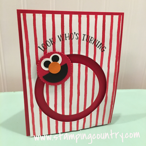 How to Make An Elmo Spinner Card