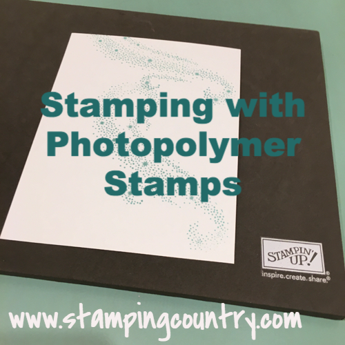 Stamping with Photopolymer Stamps