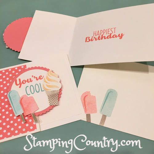 Cool Treats Hand Stamped Birthday Card