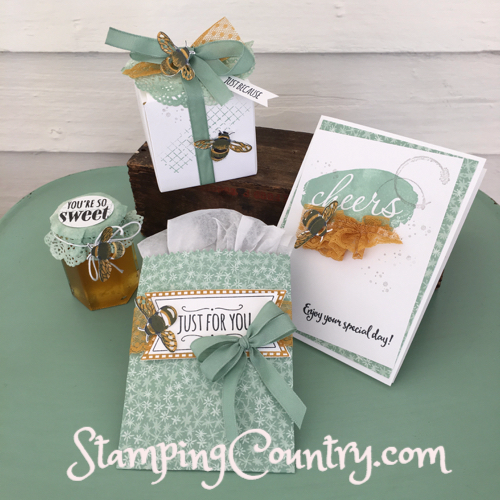 Handmade Honey Bee Card & Gift Packaging