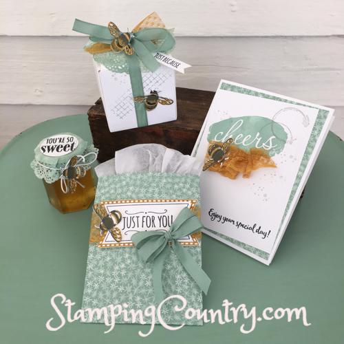 Handmade Honey Bee Card & Gift Packaging