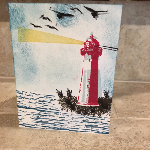 Lighthouse Card by Connor Feicht