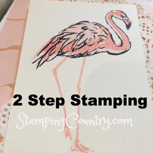2 Step Stamping Fabulous Flamingo2