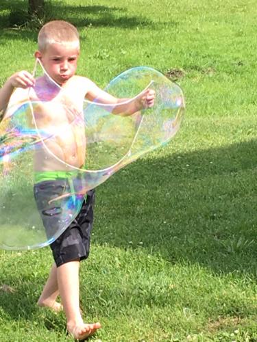 Aiden's Giant Bubble