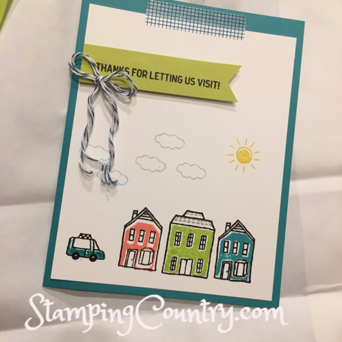 In the City Stampin' Up! Card