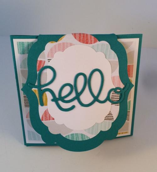 Fun Fold Card by Sylvia Werner