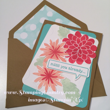 Flower Patch Card & Lined Envelope