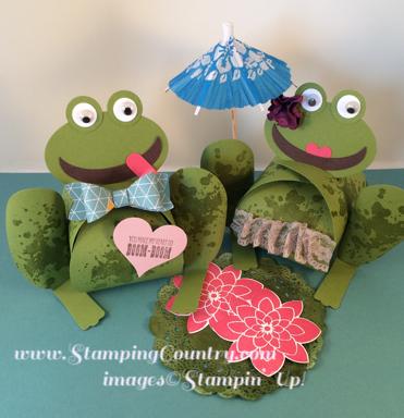 Curvy Keepsake Box Frogs