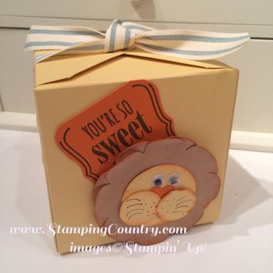 Punch Art Lion Cupcake Box