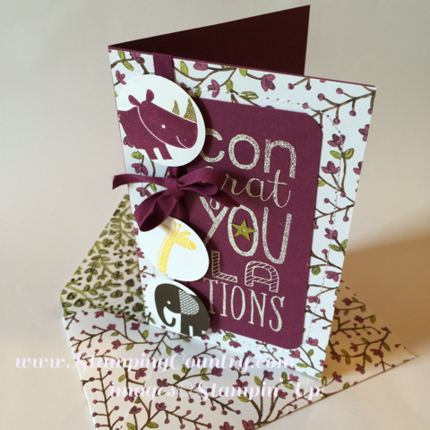 Zoo Babies Stampin' Up! Card
