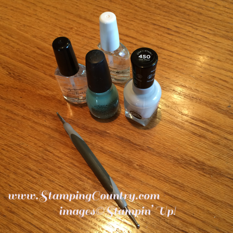 Nail Art with Craft Room Tools