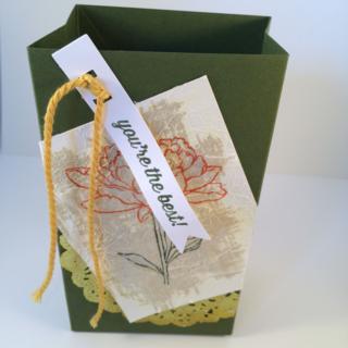 Faux Silk Gift Bag by Melissa Dobbins