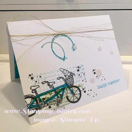 Tandem Bike Stamp