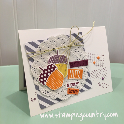 Acorny Thank You Stampin' Up!