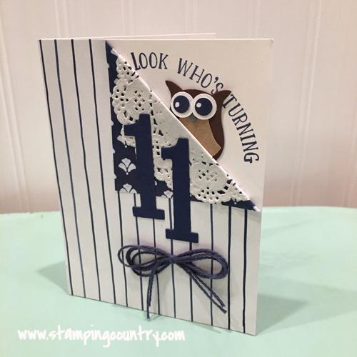 Eleventh Birthday Card